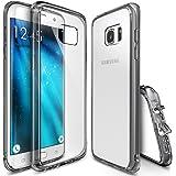 Funda Galaxy S7 Edge, Ringke [FUSION] Choque Absorcin TPU Parachoques [Choque Tecnologa Absorcin][Conviviente tapn antipolvo] para Samsung Galaxy S7 Edge - Smoke Black