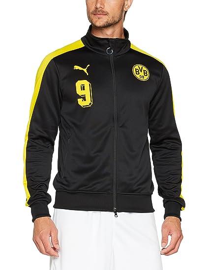 5c1b7f5ca97a Amazon.com   PUMA 2017-2018 Borussia Dortmund T7 Track Jacket (Black ...