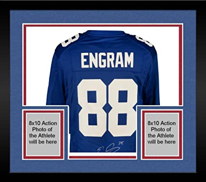 4838502b7 Framed Evan Engram New York Giants Autographed Nike Blue Game Jersey -  Fanatics Authentic Certified -