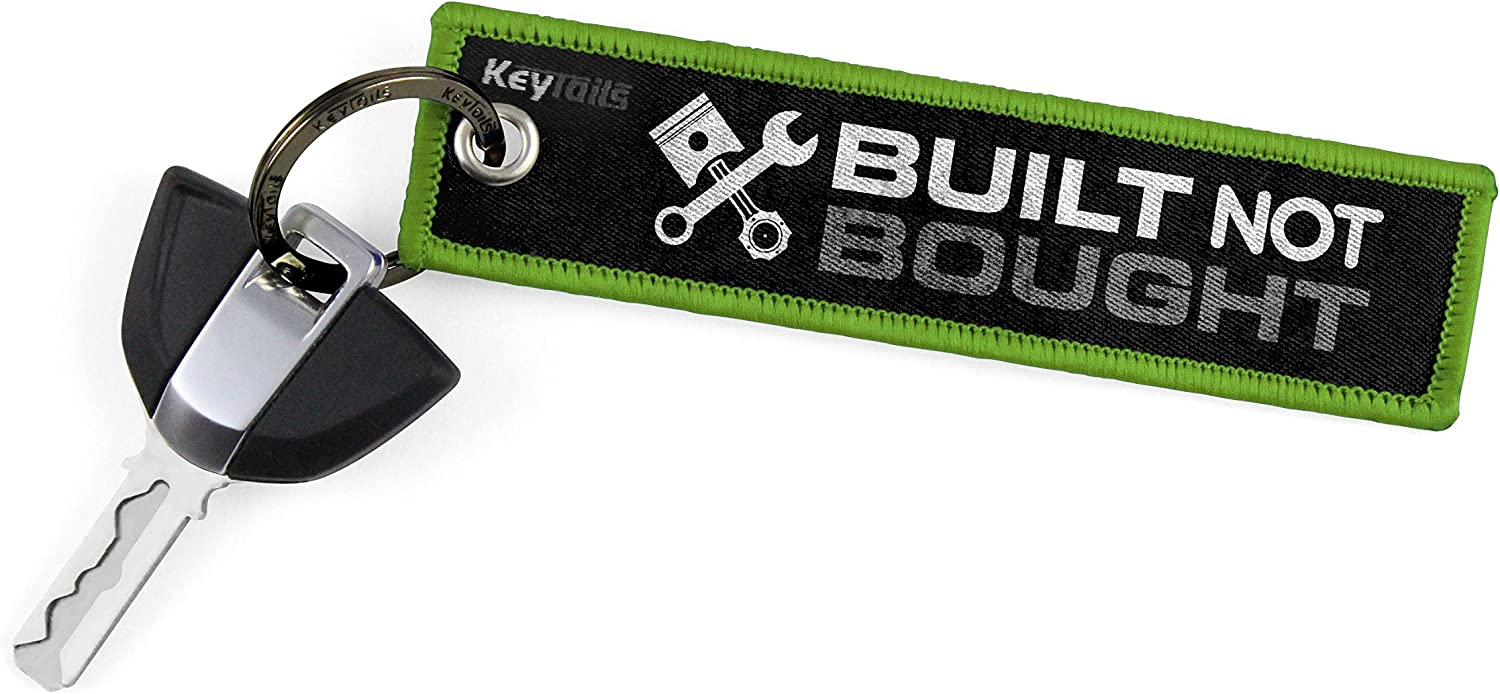 Scooter Built Not Bought ATV KEYTAILS Keychains UTV Car Premium Quality Key Tag for Motorcycle