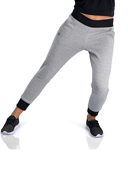 74a728668c61c Dry Fit Sweatpants for Women - Loose Fitting Yoga Crop Joggers - Lounge  Pants City Grey