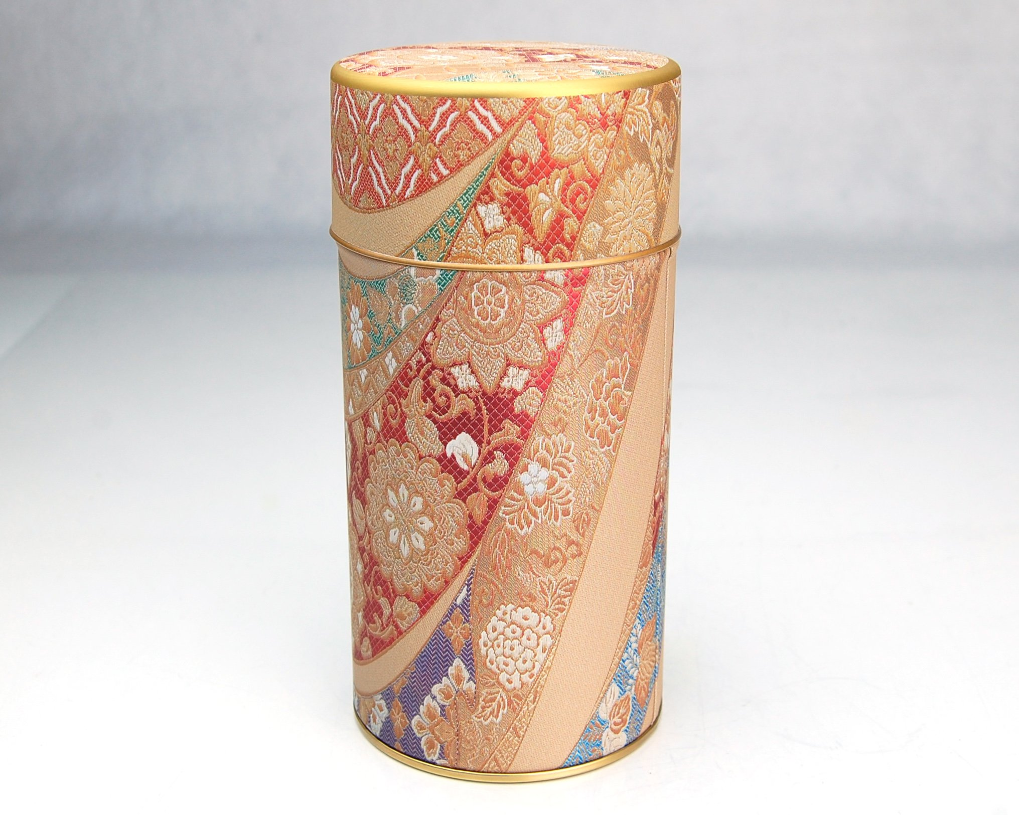 Ryu Mei Mizunishiki Japanese Metal Tea Tin [ Red ]