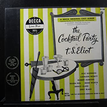 e4049e96280 T.S. Eliot - T.S. Eliot - The Cocktail Party - Lp Vinyl Record - Amazon.com  Music
