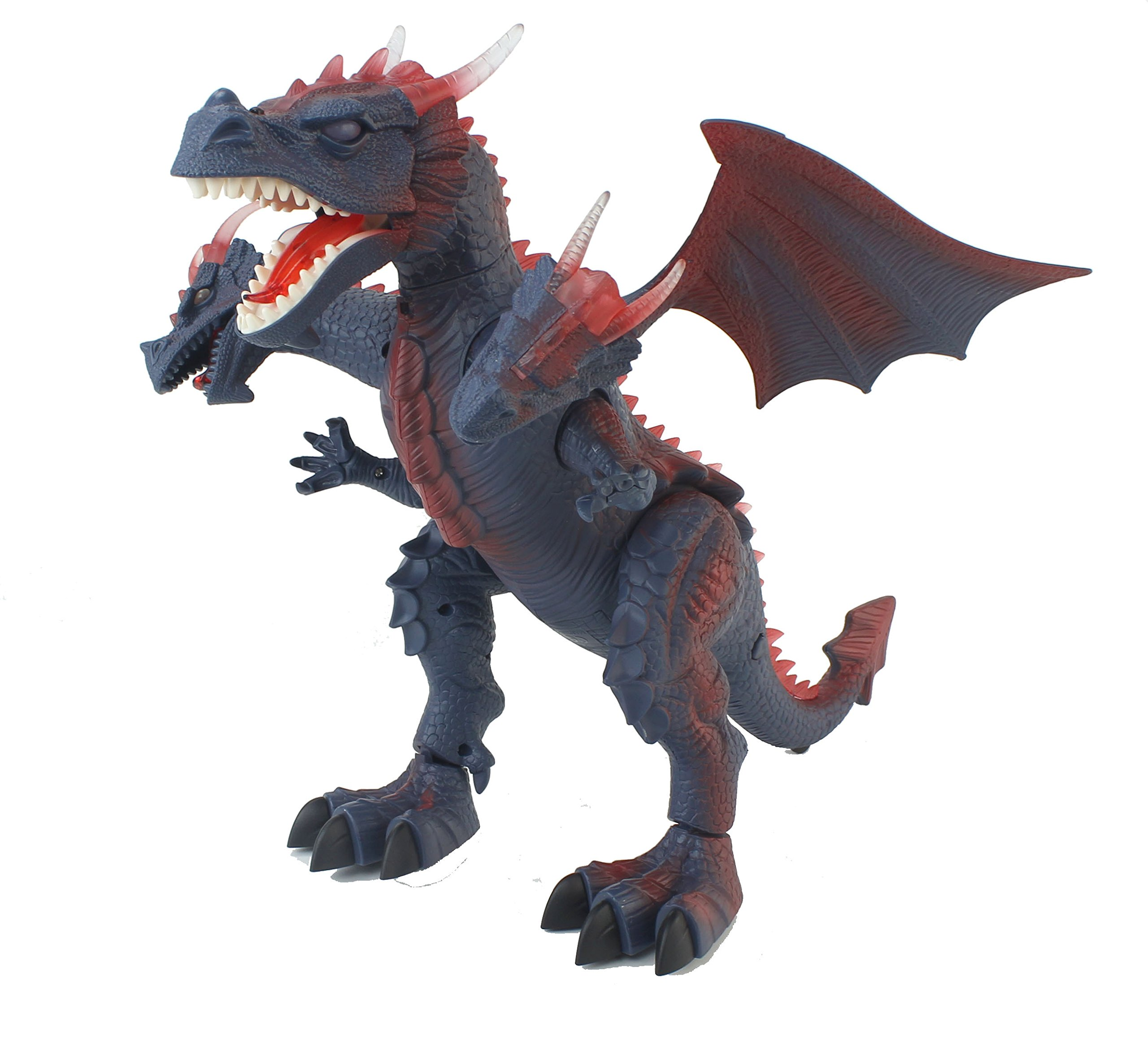 The New World of Dinosaurs Battery Operated Remote Control Toy RC Three Headed Dragon w/ Lights, Sounds, Walking/Wing/Mouth Action, & Flashlight Remote Contro by Velocity Toys (Image #4)