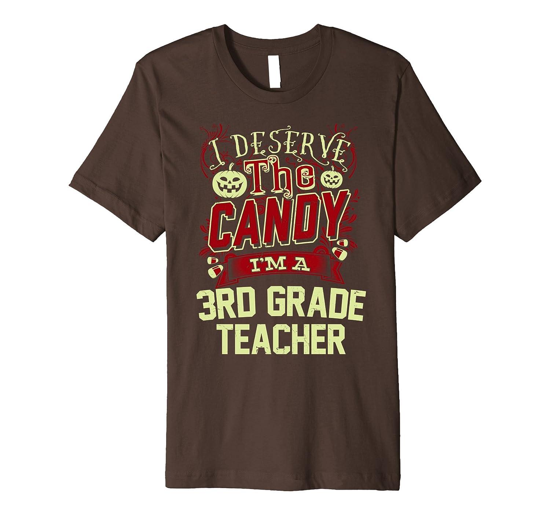 3rd Grade Teacher Halloween T-Shirt-TJ