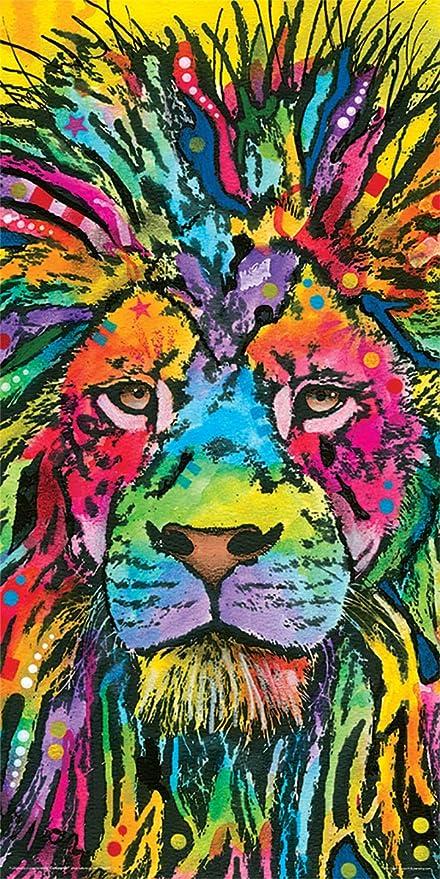 amazon com dean russo lion modern animal decorative art print