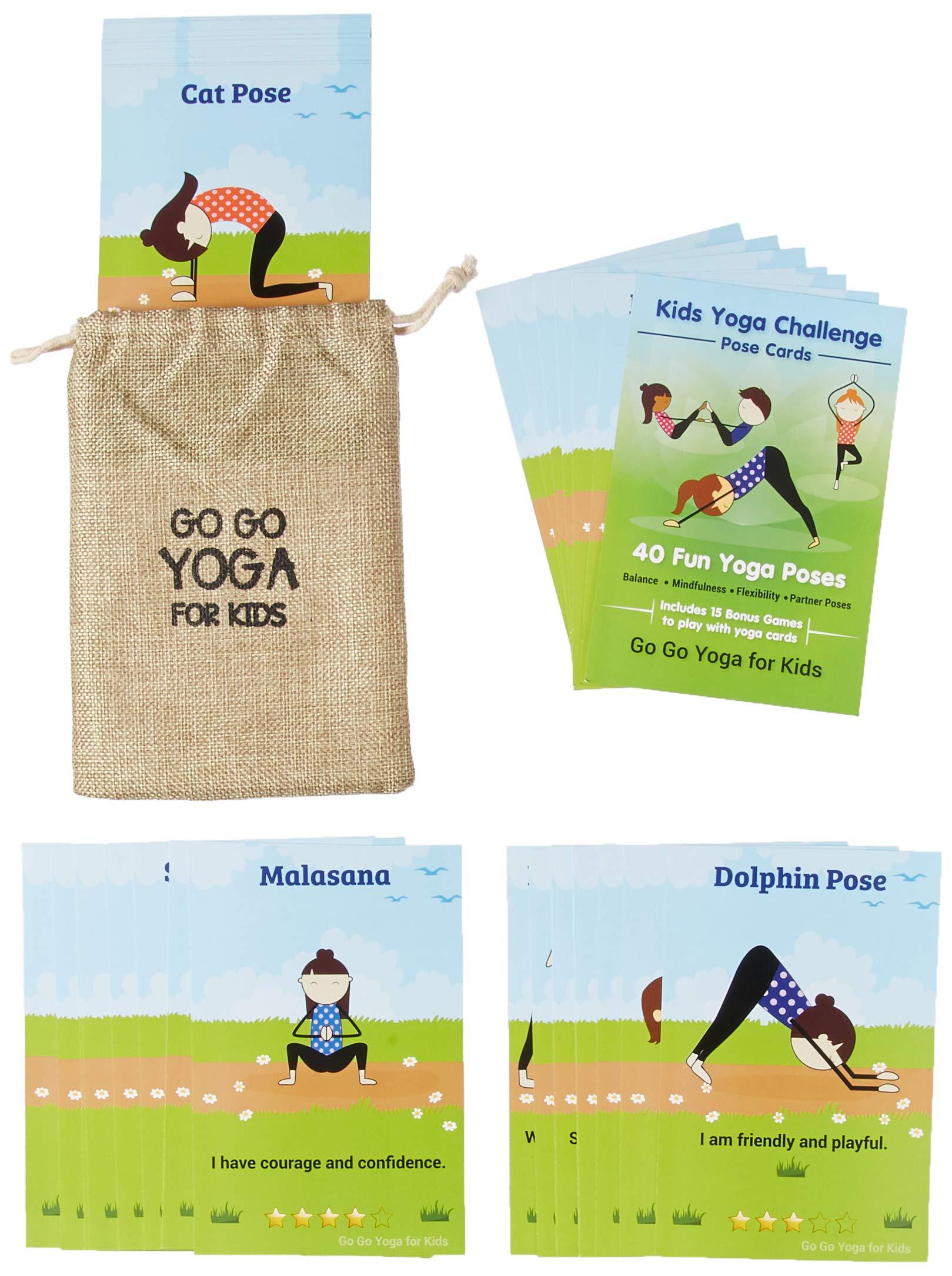 Kids Yoga Challenge Pose Cards Sara J Weis 9780998213194 Amazon Com Books