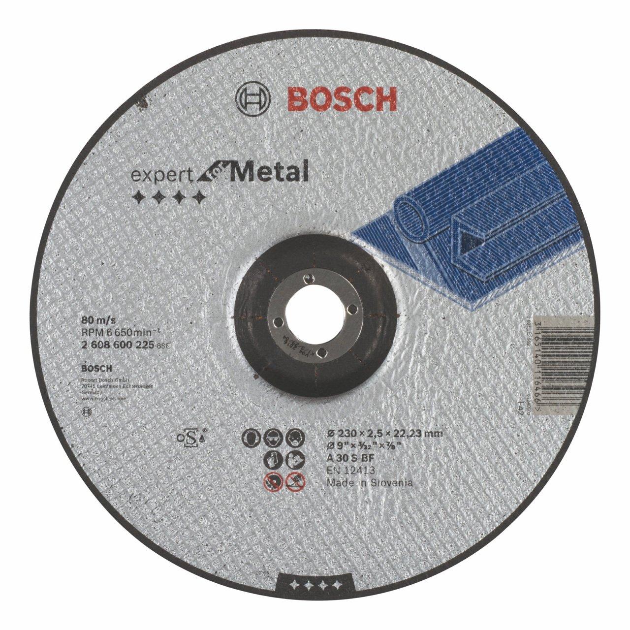 A 30 S BF pack de 1 Disco de corte acodado Expert for Metal 230 mm Bosch 2 608 600 225 2,5 mm