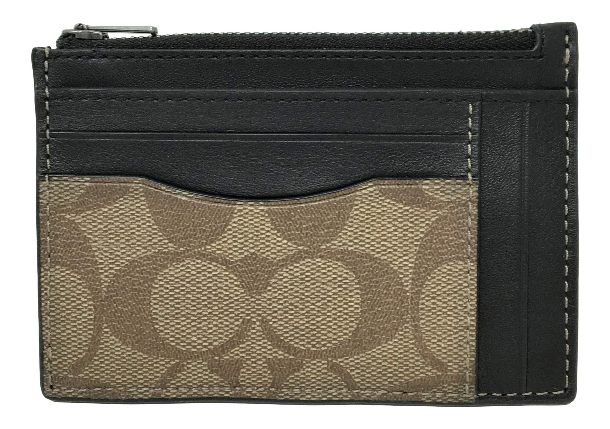 Coach Multiway Zip Card Case in Signature Canvas Tan F66649 by Coach
