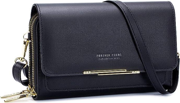 Cellphone Shoulder Bag Women PU Leather Crossbody Bag Handbag Bag Flap Wallet
