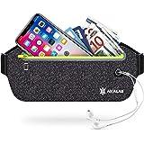 Akalas Ultra Slim Running Belt Waist Pack, No-Bounce Lightweight Fanny Pack, Water Resistant Runner Waist Bag…