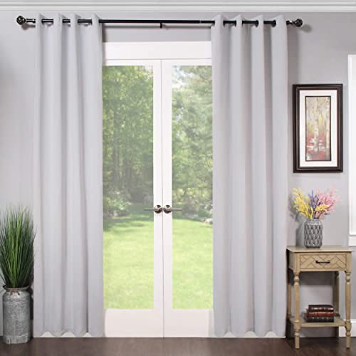 SUPERIOR Solid Blackout Collection 2 Panels Room Darkening Curtain