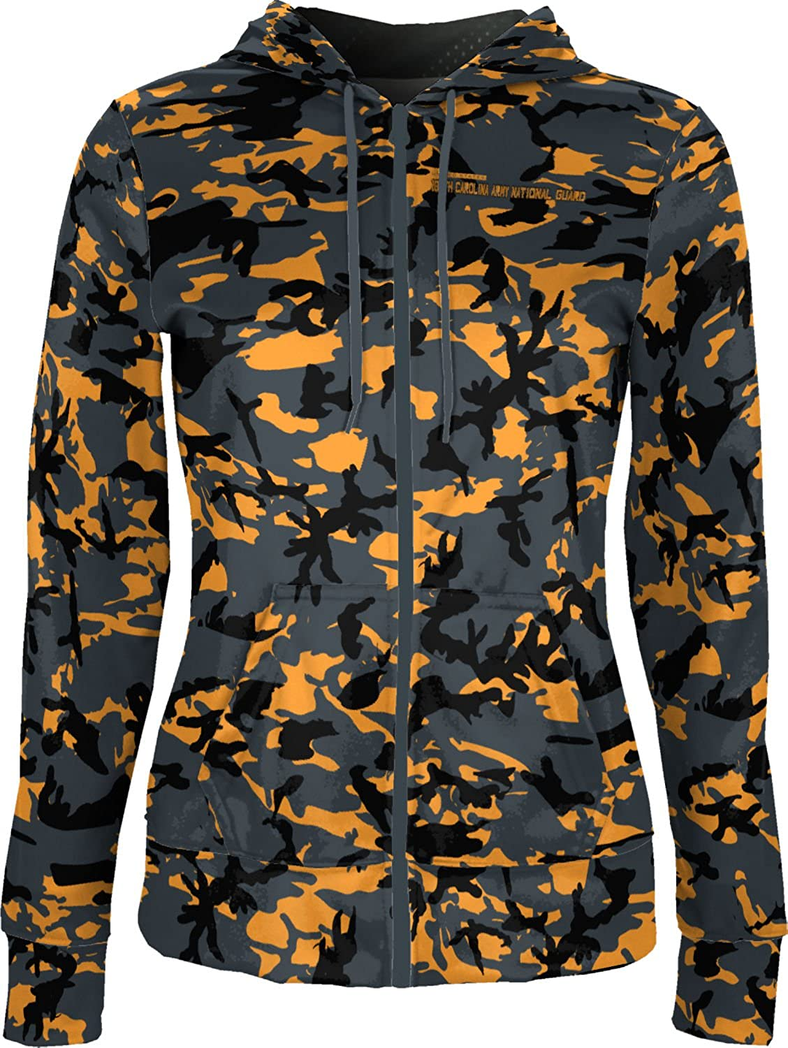 Women's North Carolina Army National Guard Military Camo Fullzip Hoodie
