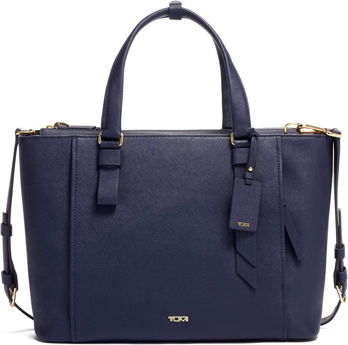 TUMI - Varek Park Leather Laptop Tote - 12 Inch Computer Bag for Men and Women - Navy