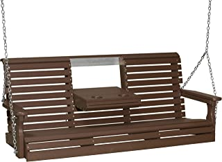 product image for Furniture Barn USA Outdoor 5 Foot Rollback Swing - Chestnut Brown Poly Lumber - Recycled Plastic