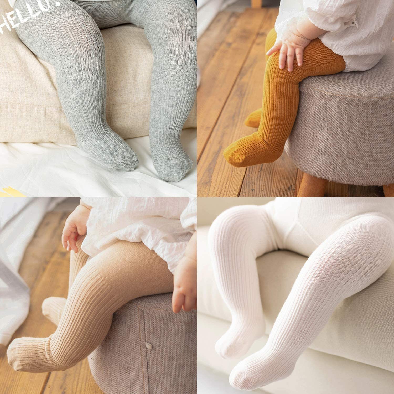 Zando Baby Tights Girls Leggings Seamless Cotton Baby Stockings Toddler Cable Knit Tights Pants Pantyhose Infants Newborn