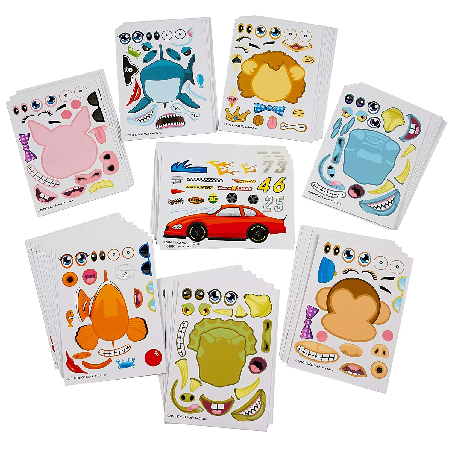 Kicko make your own sticker 96 stickers assortment includes zoo animals cars sea creature and more for kids arts parties birthdays party favors
