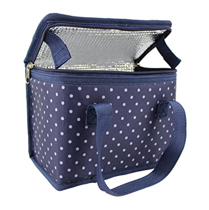 df2b149291eb TEAMOOK Wave Point Design Thermal Insulated Lunch Bag Cool Bag Softer Cold  Box 6 cans