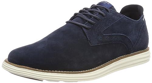 Pepe Jeans London Derry Suede, Zapatos de Cordones Oxford Hombre, Gris (Grey), 45 EU