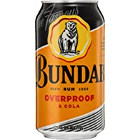Bundaberg Over Proof Rum and Cola Cans, 375ml (Pack of 6)