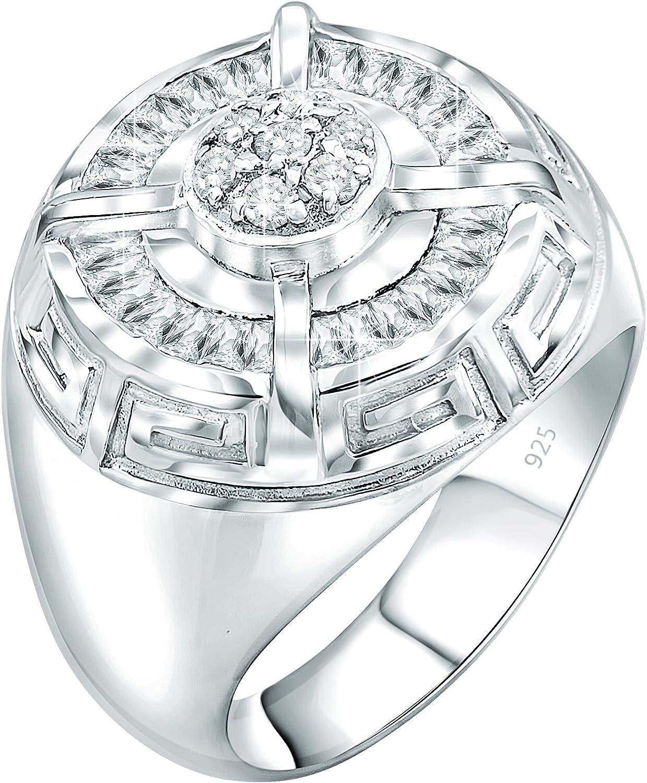 Sterling Silver Ring Zircon Stones Ring Greek Jewelry