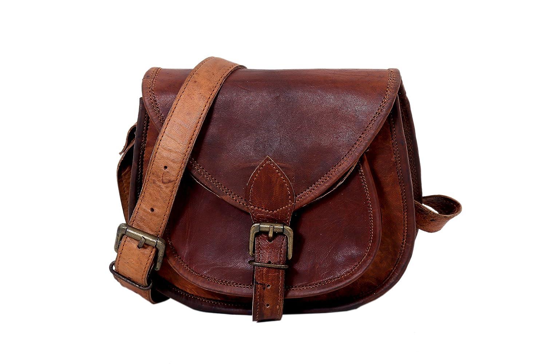 Sac à main de sac à main fait main en cuir véritable de dames de 12 pouces, sac de messager en cuir pour des femmes