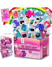 Unicorn Slime Kit for Girls- Ultimate Slime Party Kit   DIY Slime Supplies   Clear Glue, for Crystal Clear Slime, Unicorn Poop, Butter Slime, Jelly Cubes, Rainbow Slimes