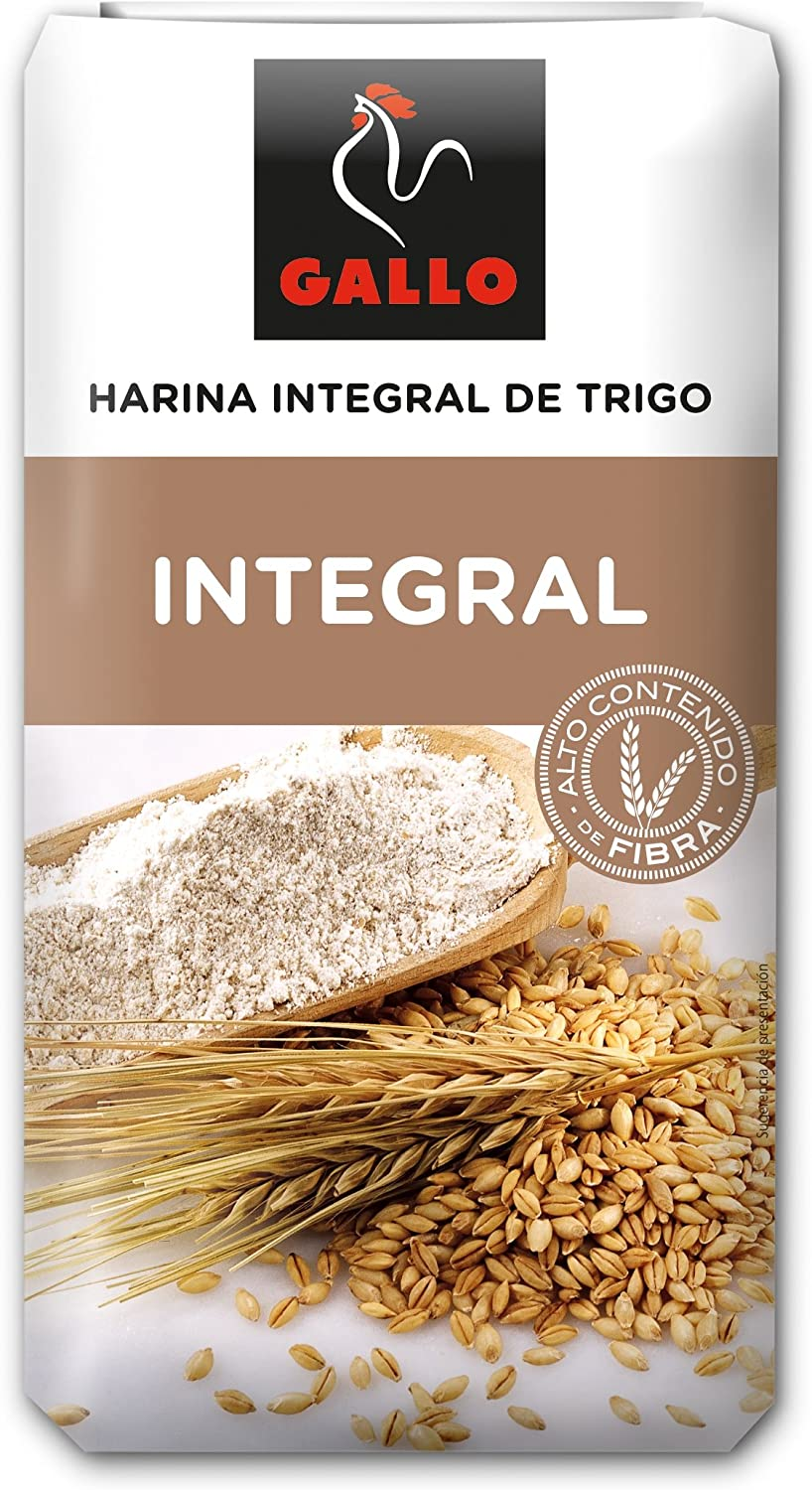 Gallo - Harina integral de trigo - 1kg: Amazon.es: Alimentación y ...