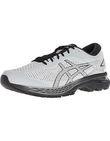 d1b24e002e ASICS Men's Gel-Kayano 25 Running Shoes, 12W, Glacier Grey/Black
