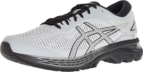 Asics Gel Kayano 25 White Black Men Running Training Shoes Sneakers 1011A019-101
