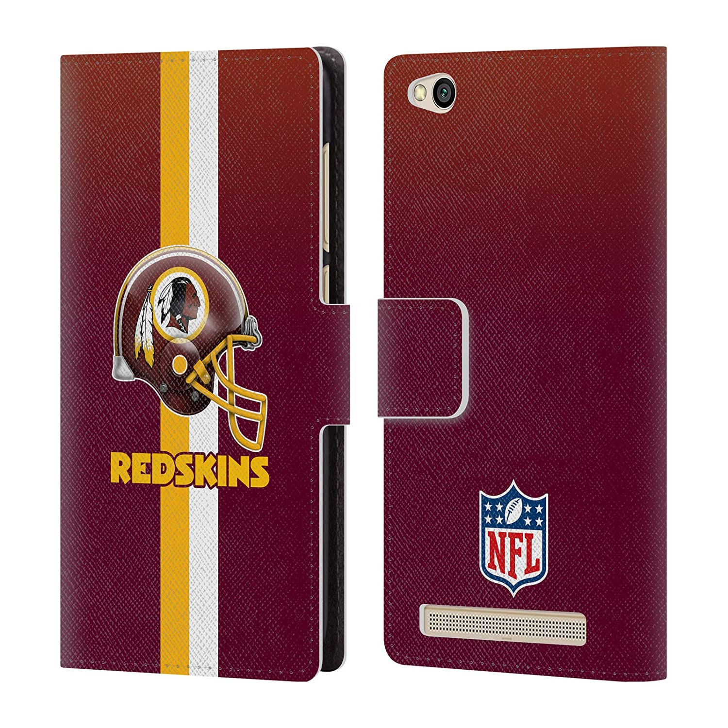 Amazon.com  Official NFL Distressed Washington Redskins Logo Leather Book  Wallet Case Cover for Xiaomi Redmi 5A  Cell Phones   Accessories 2b5dd63c0
