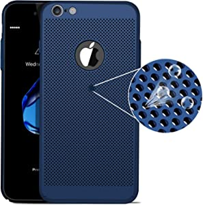 iPhone 6 Plus Case/iPhone 6S Plus Case, Ultra Slim/Thin Lightweight Breathable Cooling Mesh Case,Compatible with iPhone 6P/ 6SP Case(Blue)