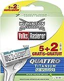 Wilkinson Sword Quattro Titanium Sensitive 5 + 2 Rasierklingen Volksrasierer