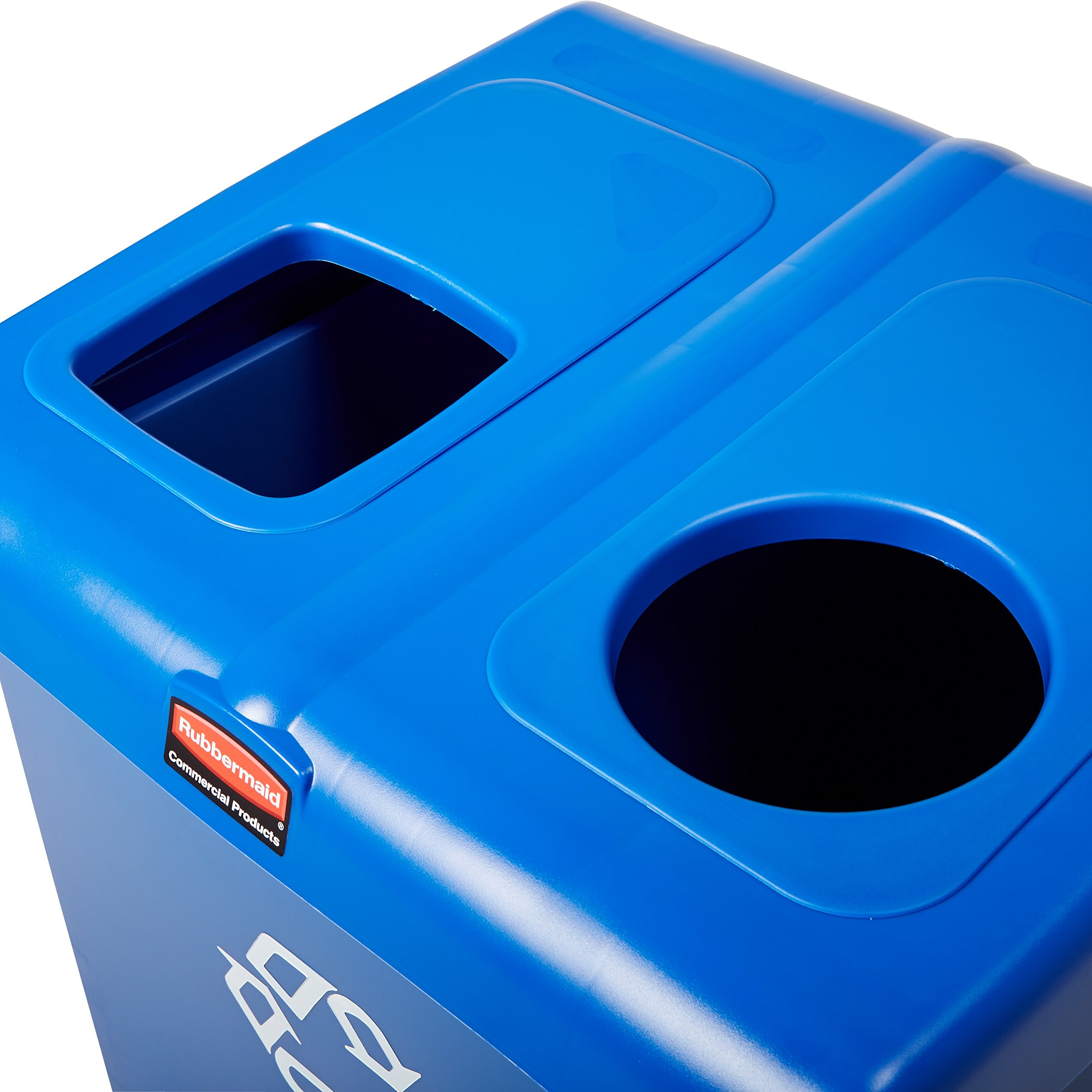 Rubbermaid Commercial 1792339 Glutton Recycling Station, 2-Stream, 46-Gallon, Blue by Rubbermaid Commercial Products (Image #6)