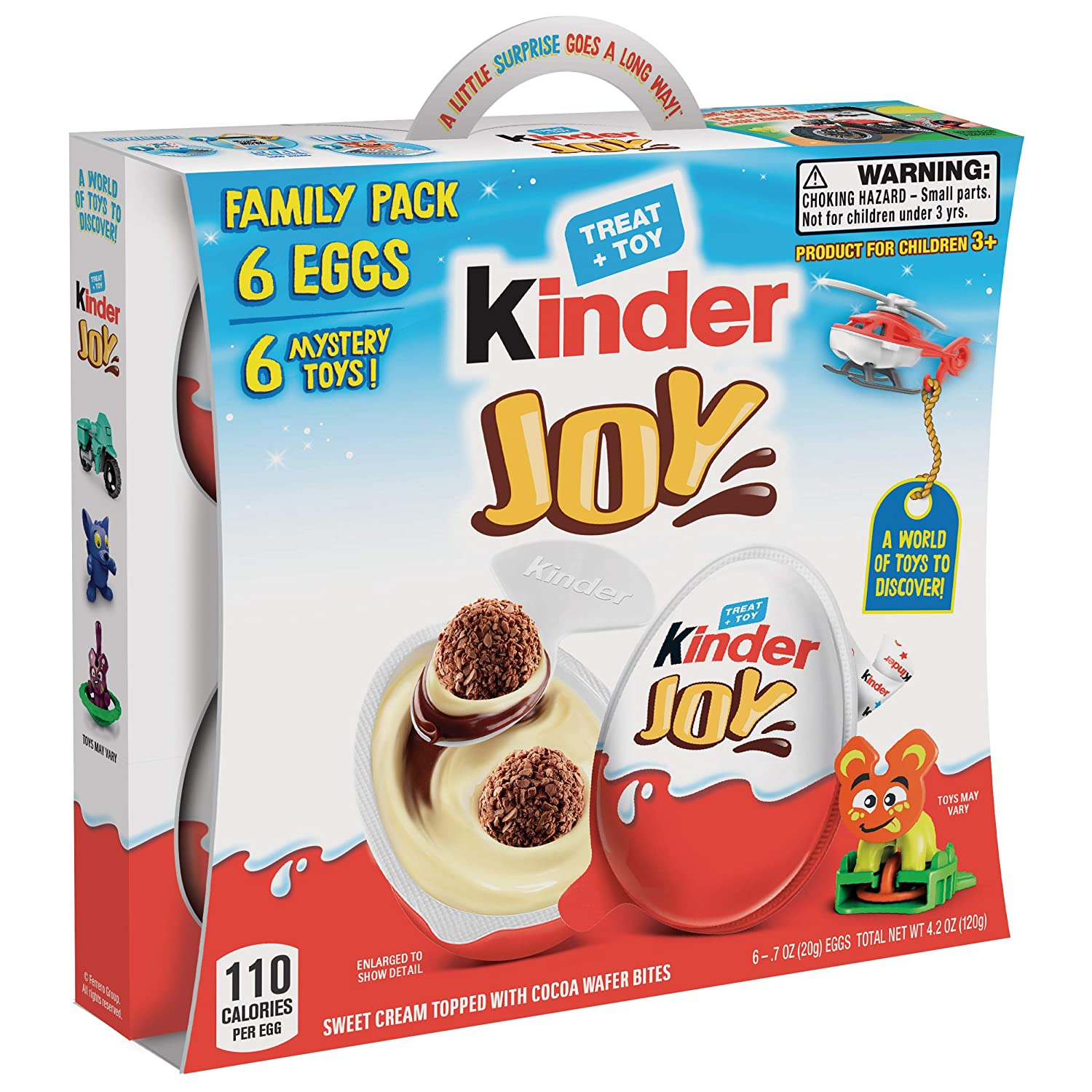 Amazon Com Kinder Joy Eggs 6 Pack Individually Wrapped Chocolate Candy Easter Eggs With Toys Inside Perfect Easter Basket Stuffers For Kids 4 2 Oz Grocery Gourmet Food