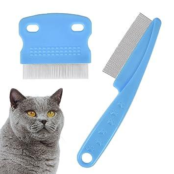 Pet Touch Fine Medium Flea Remover Dog Cat Comb Metal Teeth Hair Coat Healthy Blue