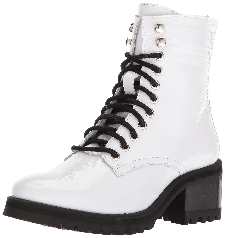 Steve Madden Women's Geneva Combat Boot B075Y8PLN2 5.5 B(M) US White Patent