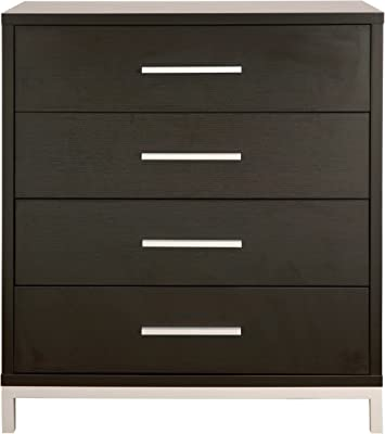 ioHOMES Beatrice Modern 4-Drawer Chest, Espresso