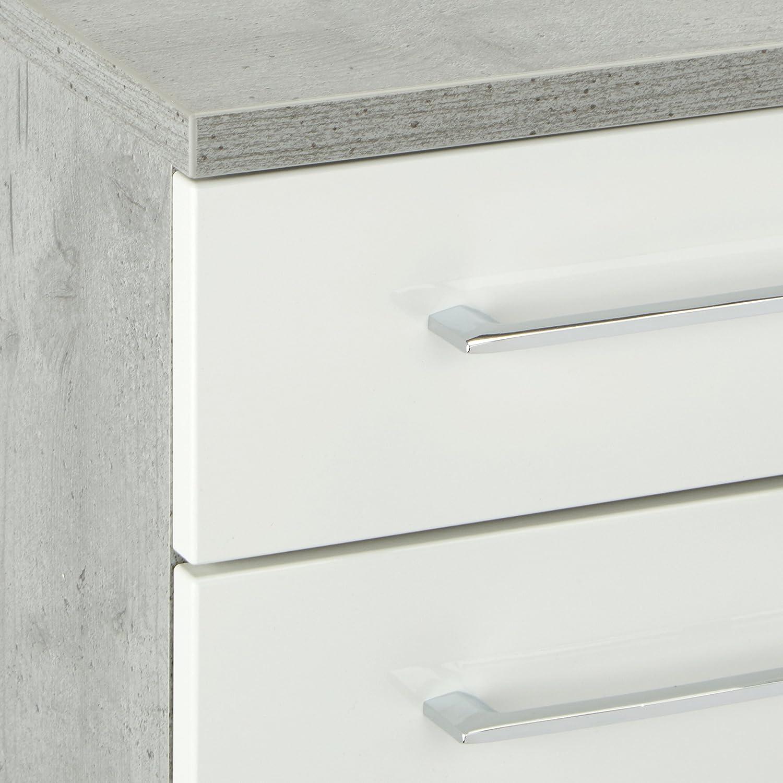 33 x 70 x 53 cm Pelipal 370 Fresh Line Grey Mobile sottolavabo in Legno Effetto Cemento