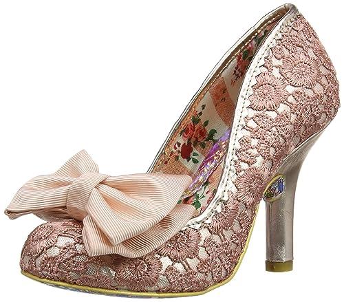 Irregular Choice Mal E Bow, Women's Closed-Toe Pumps, Pink (Pink/