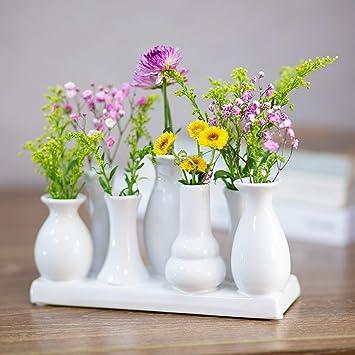 Amazonde Keramikvasenset Blumenvase Keramikvasen Buntweiß Vase