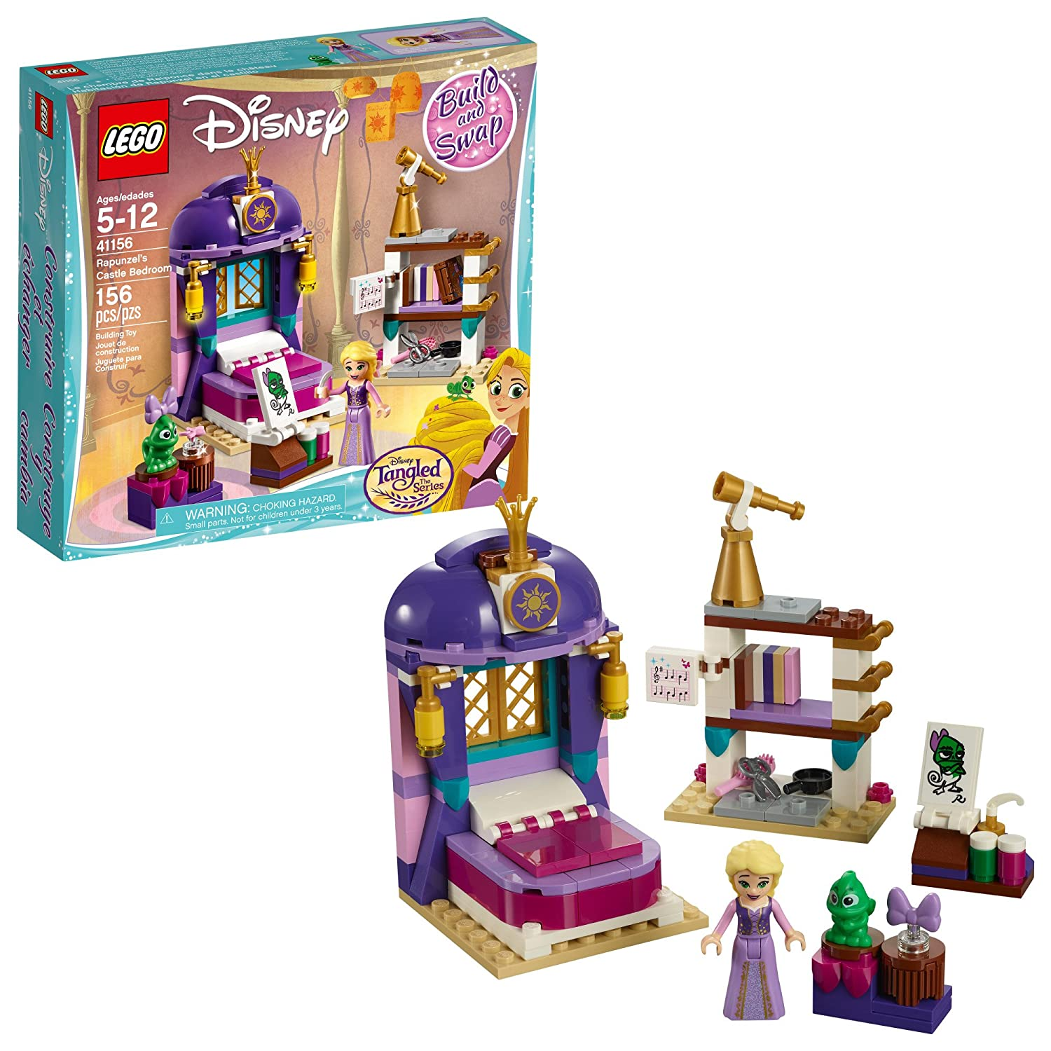 Amazoncom Lego Disney Princess 6213312 Rapunzels Bedroom 41156