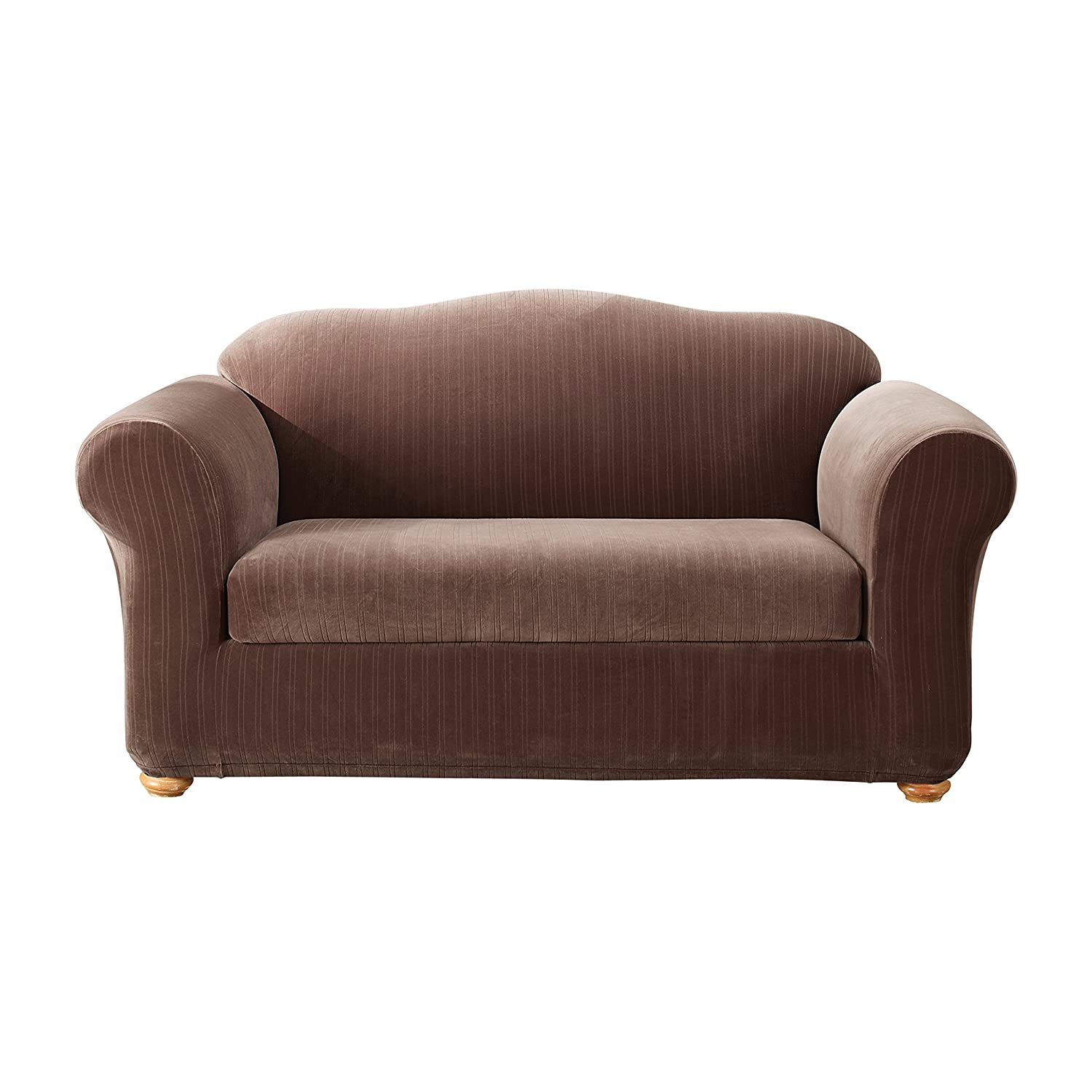 Beautiful fitted couch covers amazon sectional sofas for Fitted furniture slipcovers