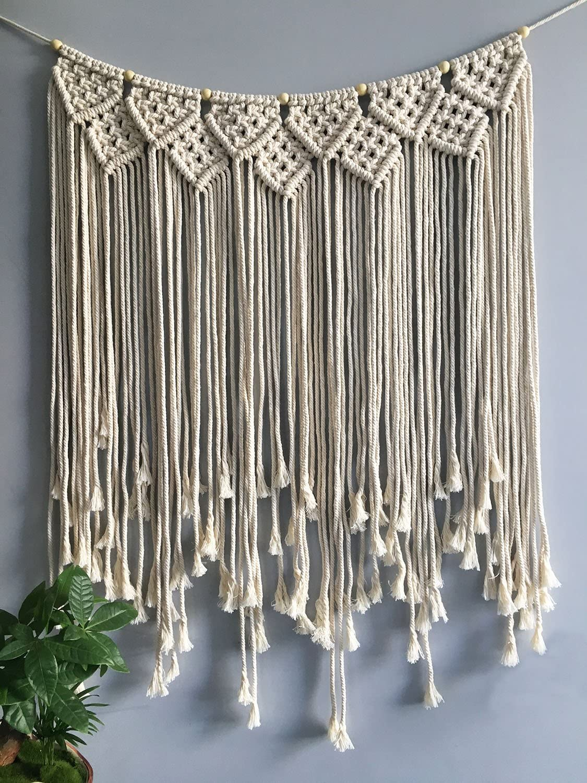 Art Handmade Woven Macrame Tapestry Bohemian Wall Hanging Tapestries Home Decor