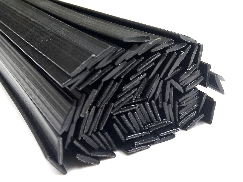 Plastique baguettes de soudure ABS Noir 8x1mm Plat 25 Barres az-reptec 1013001