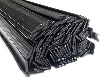 Alambre de soldadura de plástico ABS 8x2mm Plano Negro 25 barra: Amazon.es: Coche y moto