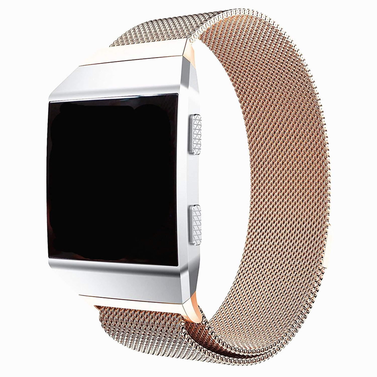 For Fitbit Ionic Bands Small and Largeサイズforレディースメンズ、yuliker強力な磁気クラスプMilaneseステンレススチールバンドfor Fitbit Ionic Smartwatch複数色 B077PRZHZM Rose-Gold Large Size-(6.2''-9.8'')