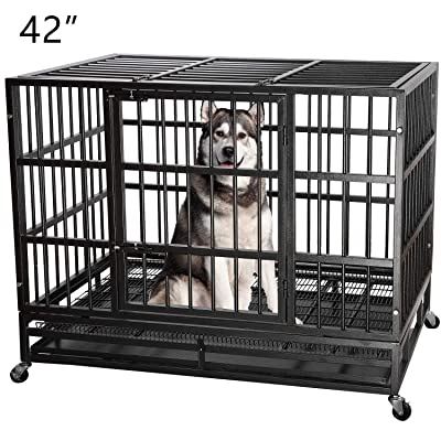 ITORI Heavy Duty Metal Dog Cage Kennel Crate and Playpen