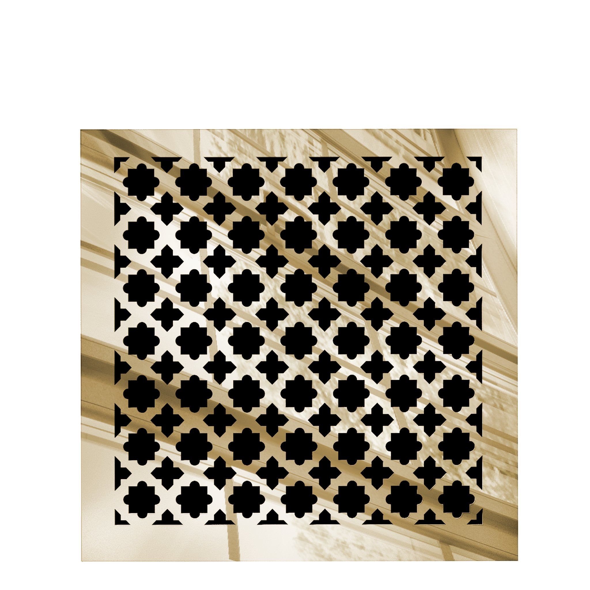 Saba Air Vent Cover Grille - Acrylic Fiberglass 8 x 8 Duct Opening (10'' x 10'' Overall) Gold Mirror Finish Return Register Covers for Walls and Ceilings NOT for Floor USE, Venetian
