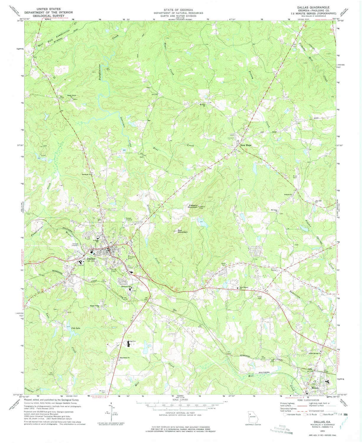 Amazon Com Yellowmaps Dallas Ga Topo Map 1 24000 Scale 7 5 X 7 5
